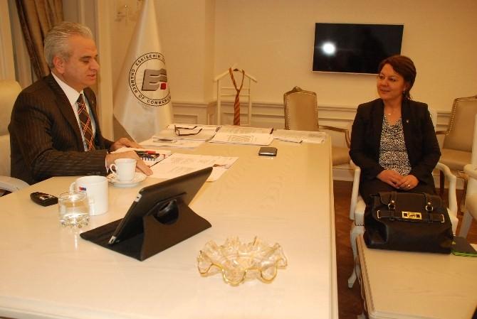 AK Parti Aday Adayı Prof. Dr. Arzu Çiçek, ETO Başkanı Güler İle Görüştü
