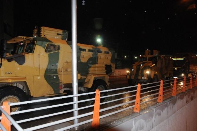 Askeri Malzeme Sevkiyatı Yapan Uzun Araçlar Güvenlik Önlemi