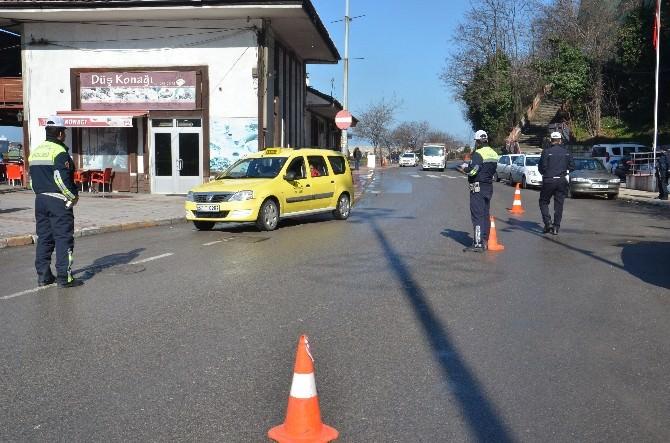 Trafik Ekiplerinden Ticari Taksilere Uygulama