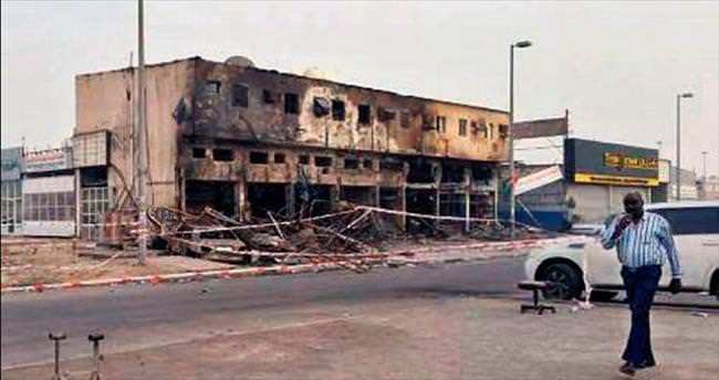 İş merkezi yandı 10 işçi can verdi