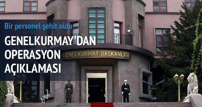 Genelkurmay Başkanlığı'ndan operasyon açıklaması