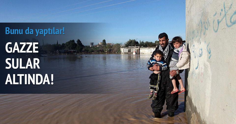 İsrail Gazze'yi sular altında bıraktı