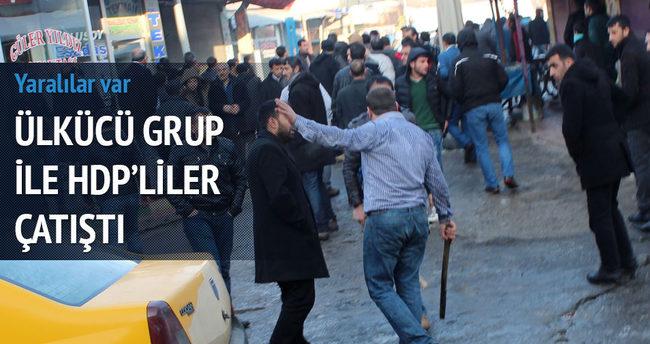 Ülkücü gurup ile HDP'liler çatıştı!