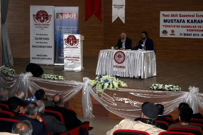 Mustafa Karahasanoğlu'ndan 'Darbeler Ve Basın Özgürlüğü' Konferansı