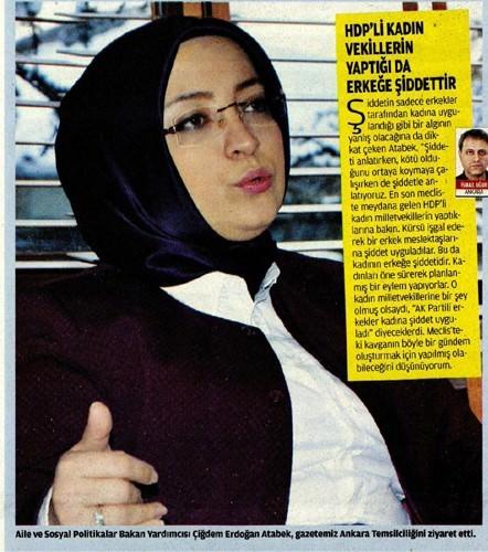 """Çiğdem Atabek: """"HDP'li Kadın Vekiller De Erkeklere Şiddet Uyguluyor"""""""