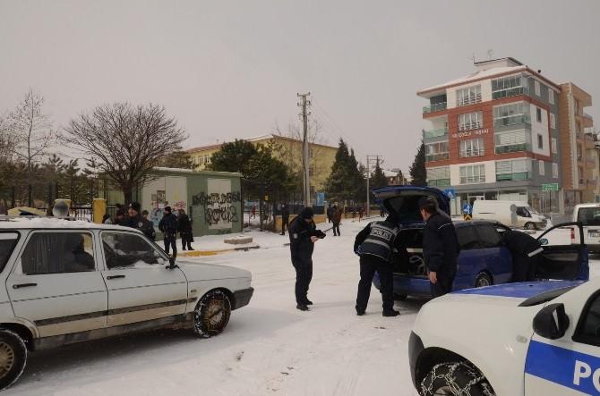 """Uşak'ta """"Huzur 64 Güvenli Okul"""" Çalışması"""