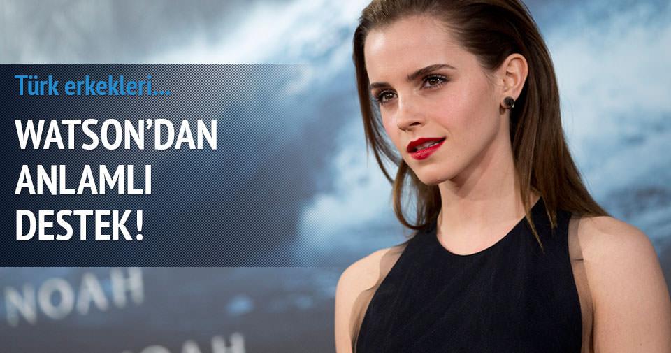 Emma Watson'dan anlamlı destek