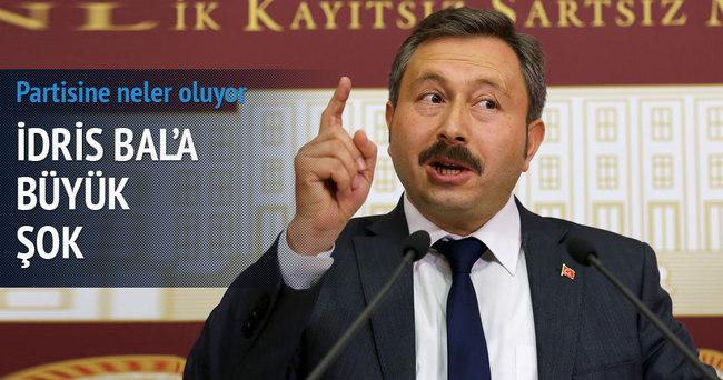 İdris Bal'a bir şok daha: İstanbul İl Başkanı istifa etti