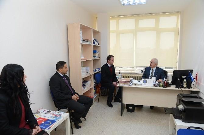 Edirne Valisi Şahin, AB Eşgüdüm Merkezinde İncelemelerde Bulundu