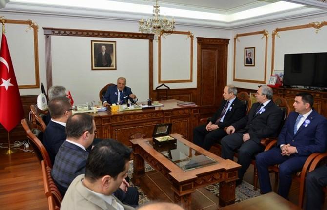 İl Defterdarı Yusuf Balcı Vali Şentürk'ü Ziyaret Etti