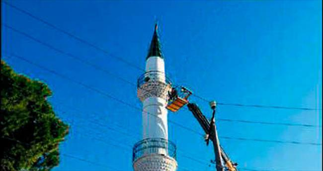 Egeli Sabah yazdı minare onarıldı