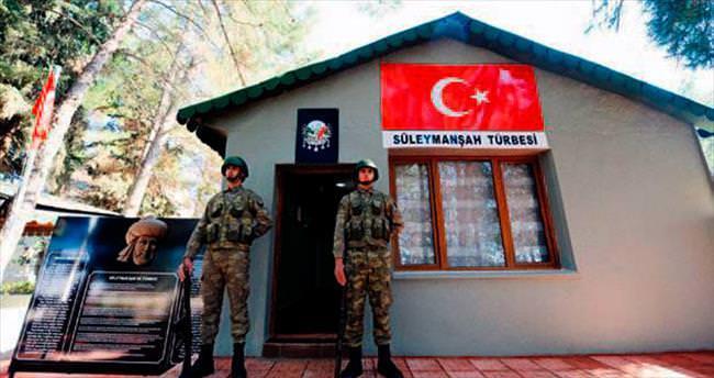 Süleyman Şah geçici kabrinde