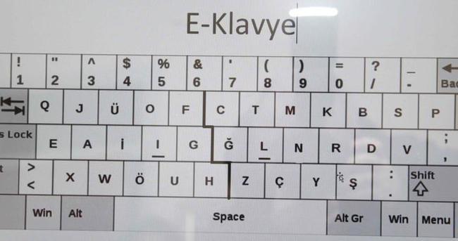 F ve Q klavyeden sonra 'E Klavye'miz oldu