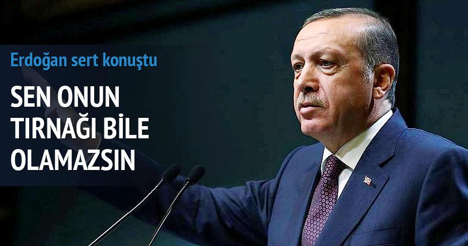 Erdoğan: Genelkurmay Başkanı'nın atılacak tırnağı olamazsın