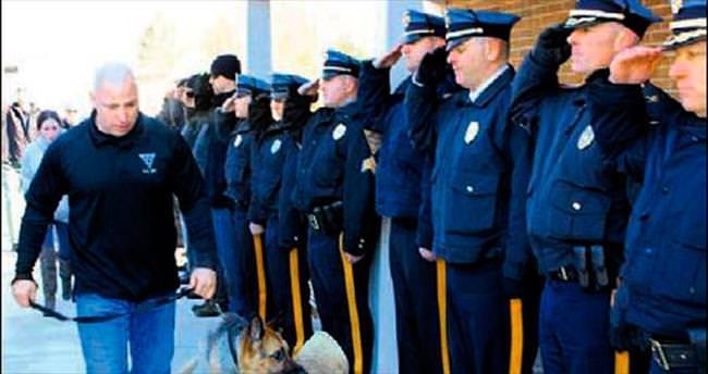 Polis köpeği Judge törenle uğurlandı