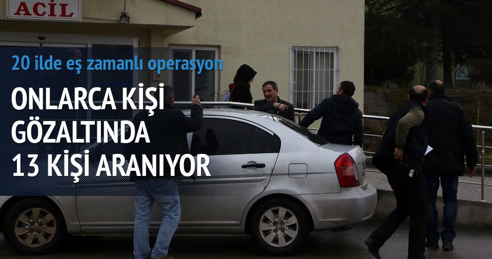 Ankara merkezli 20 ilde ''paralel yapı'' operasyonu