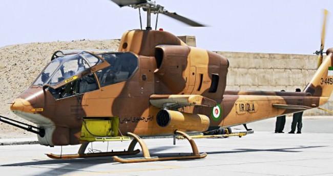 İran'ın askeri helikopteri düştü
