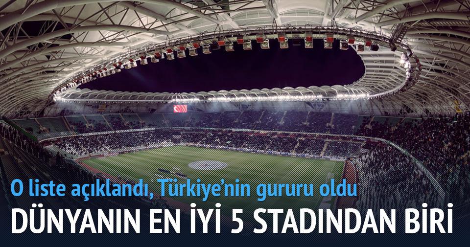 İşte yılın en iyi stadyumu
