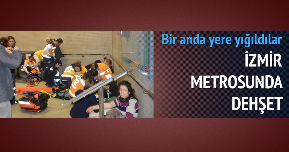 İzmir'de metroda dehşet