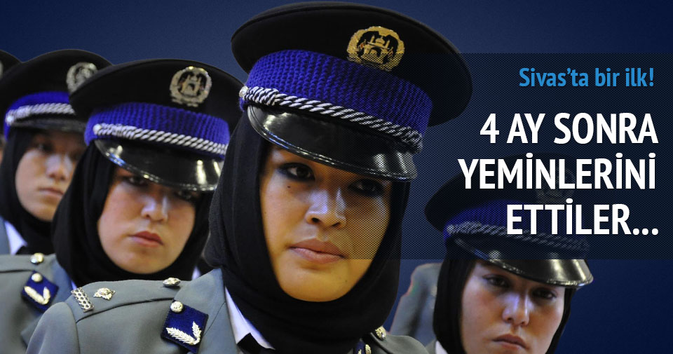Afgan kadın polisler mezun oldu