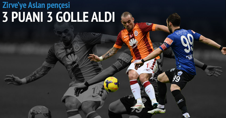 Galatasaray Kayseri Erciyes maçı özeti ve golleri (Zirveye Aslan pençesi)