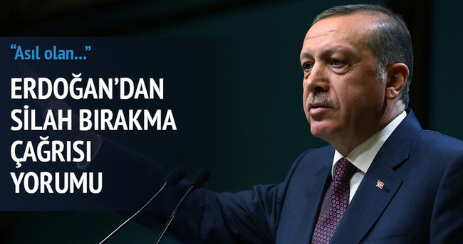 Erdoğan: Bu çağrı çok önemli bir beklentiydi
