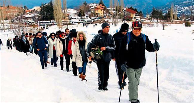Saklıkent'te sağlık için yürüyüş