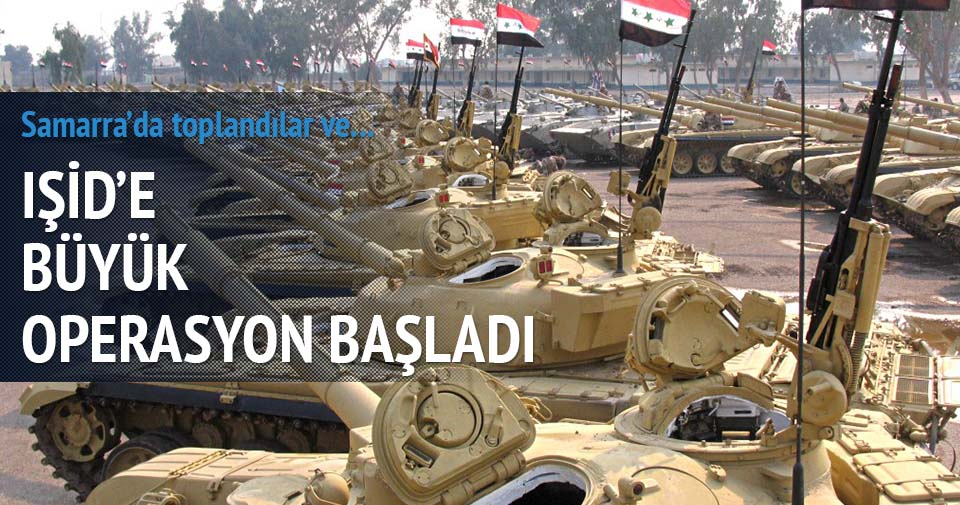 Tikrit'e büyük operasyon başladı