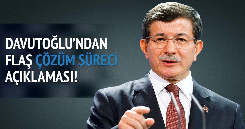 Davutoğlu'ndan flaş Çözüm Süreci açıklaması!