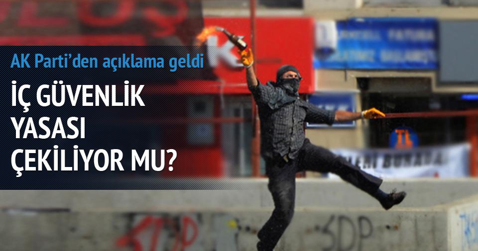 AK Parti'den İç Güvenlik Paketi geri çekiliyor iddiasına cevap