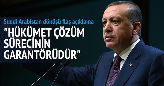 Erdoğan: Silahsız bir seçim kimin barış istediğini gösterir