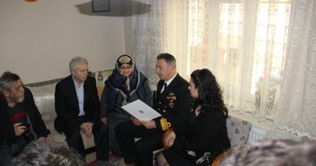 Şehit ailesine 'Özel' mektup ve davet