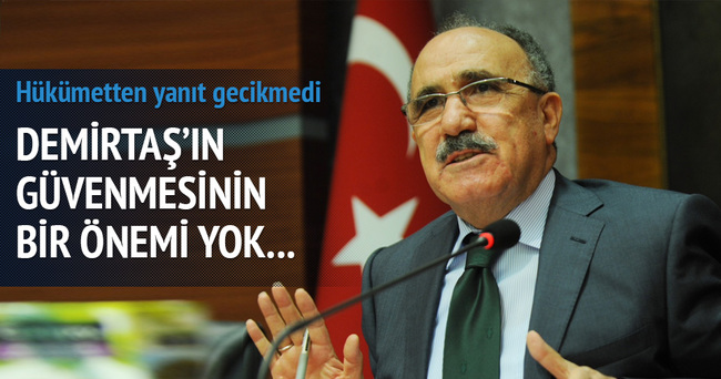 Demirtaş'a hükümetten jet tepki