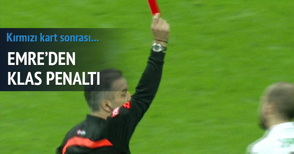 Galatasaray Manisa maçında Sercan'a kırmızı kart