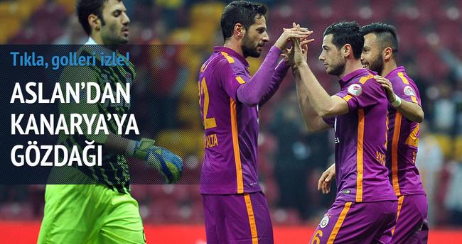 Galatasaray'a derbi öcesi kupa morali (GS-Manisa özeti ve golleri izle)