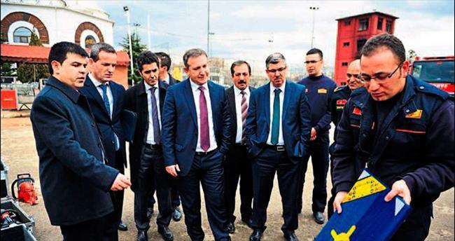 Ankara İtfaiyesi Tiran'lı konukları hayran bıraktı