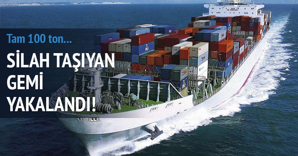 Çin gemisi silah taşırken yakalandı