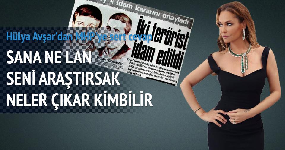 Hülya Avşar'dan MHP Genel Sekreteri'ne sert cevap
