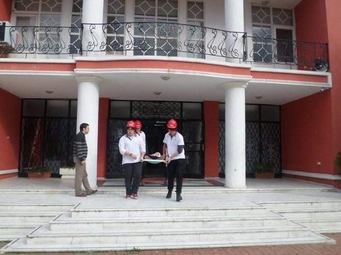 Bahçeşehir Kolejinde Yangın Tatbikatı