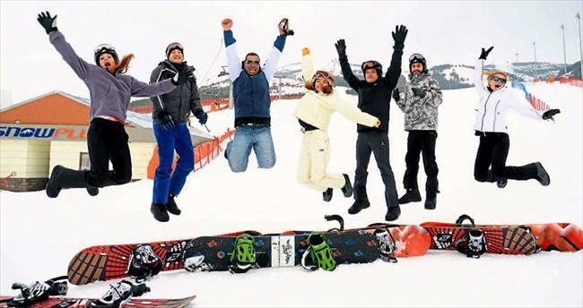 Eğlenceli kar tatili