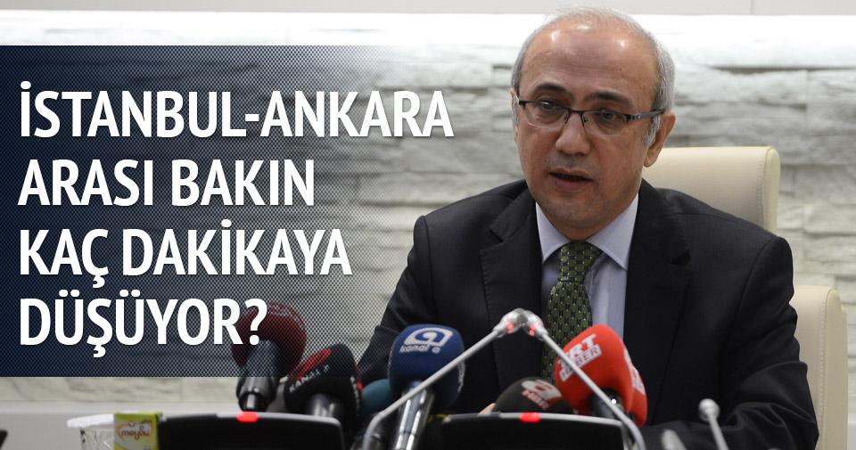 Ankara-İstanbul arası 1 saat 15 dakikaya düşecek
