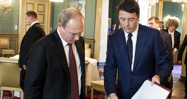 Putin ve Renzi görüştü