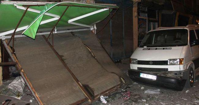 Iğdır'da sobacılar çarşısında patlama