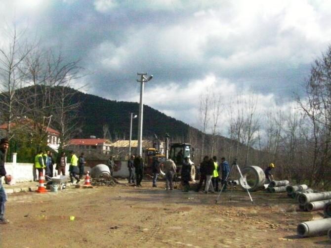 Taraklı'da Kanalizasyon Çalışmaları Başladı