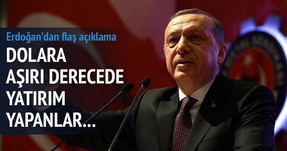 Erdoğan'dan dolar açıklaması geldi