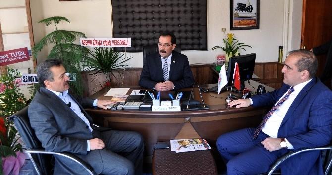Başkan Tutal'dan Ziraat Odası Başkanına Ziyaret