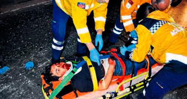 İki farklı kazada 1 kişi öldü, 10 kişi yaralandı