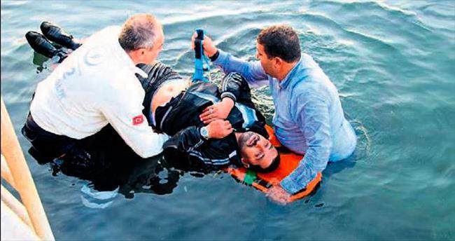Denize düşen hasta kurtarıldı