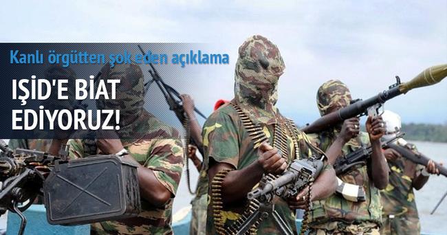 Kanlı örgüt IŞİD'e biat ettiğini açıkladı
