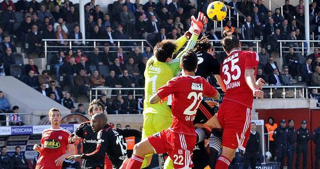 Sivas oynadı, Beşiktaş kazandı